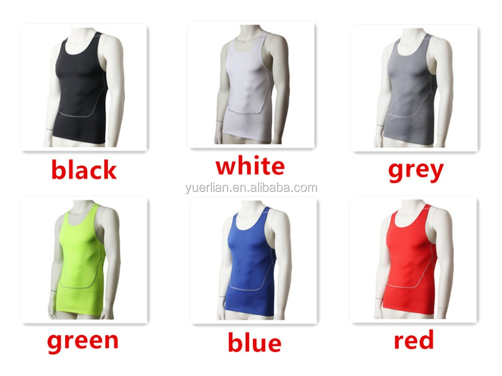 Sexy gym tank top for men wholesale sport wear bodybuilding compression vest 1006