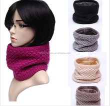 Hot sale Amazon warm acrylic winter Neck warmers women knitted scarf