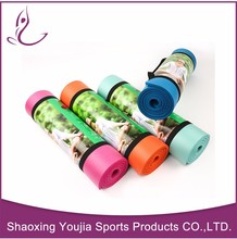colorful China Suppier Professional Black Exercise Yoga Mat With Carrying Strap