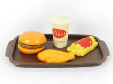 Plastic Fast Food Set Simulation Food Toy Hamburg Cola French fries chicken wings
