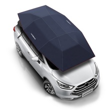Patent holder Lanmodo Silver Semi-Auto Car Sunshade for SUV Mobile Advertising Car Sun Shade