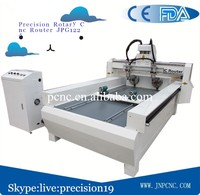 Rational construction One head with two spindles cnc router 1224 for processing furaniture decoration