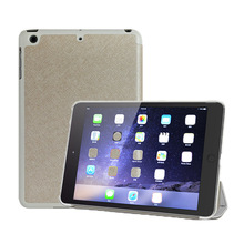 Slim Smart-shell Stand Cover with Premium Leather Back Protector for iPad mini 1/2/3