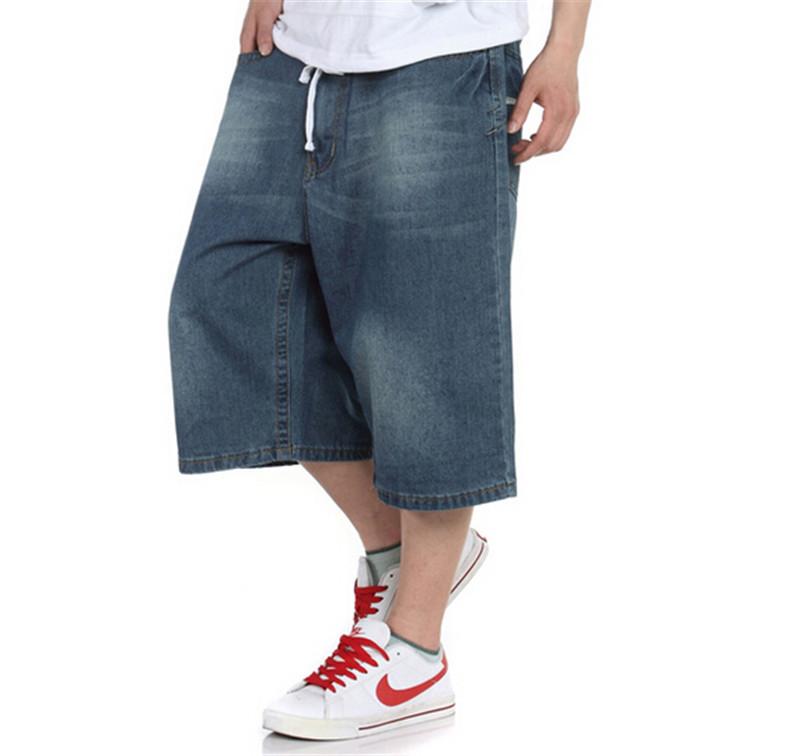 c1eb5541a53 Get Quotations · 2015 New Fashion Men s Jeans Man Short Denim Hiphop Jeans  Skateboard Men s Loose Baggy Jeans Boy