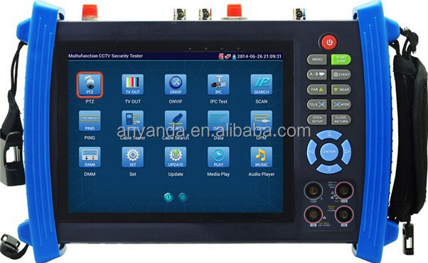 "New multifunction 7""inch touch-screen IP camera cctv tester ipc 8600 cctv tester price"