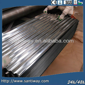 factory roof construction material Alumiumn zinc coated corrugated steel sheet supplier
