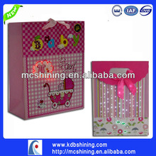 Colorful Shining musical LED paper carrier bag for cosmetic