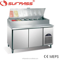 G0.5L2FPZ Surpass Kitchen Stainless steel Refrigerated Pizza Preperation Table