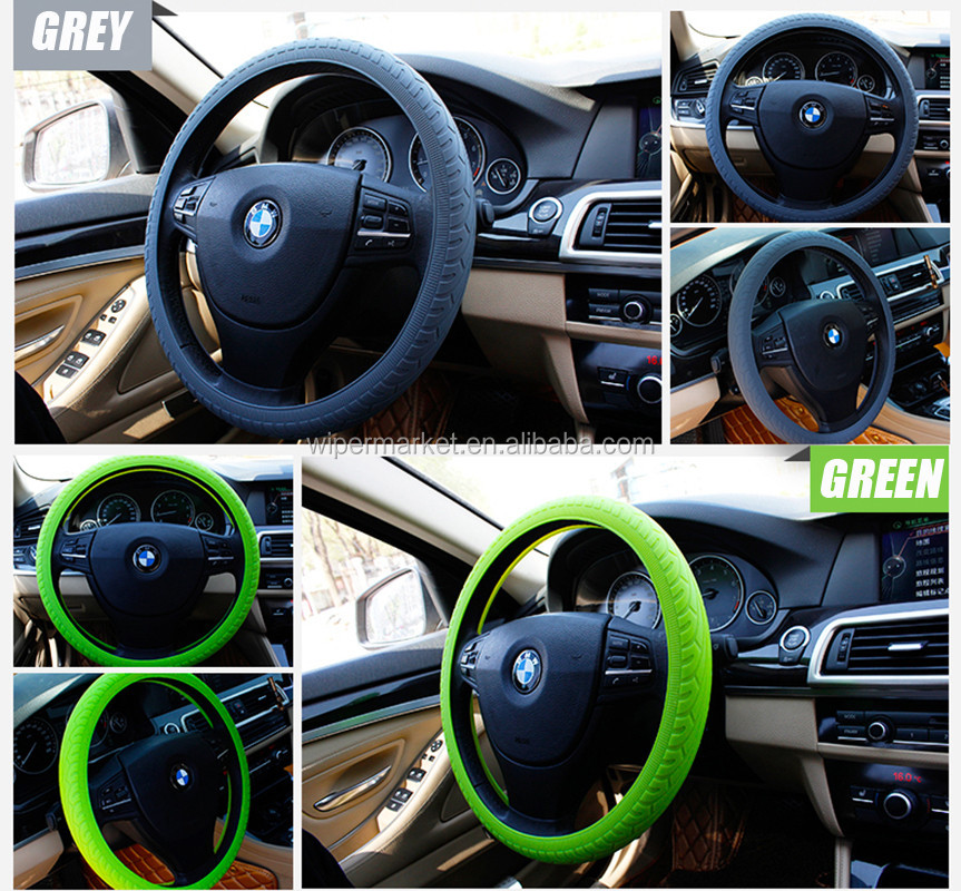 928# Hot selling silicone colorful steering wheel cover