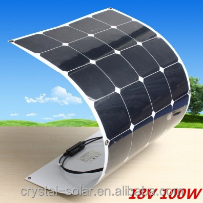 SUNPOWER semi flexible solar panel solar module thin film pv panel100W high efficiency and good quality
