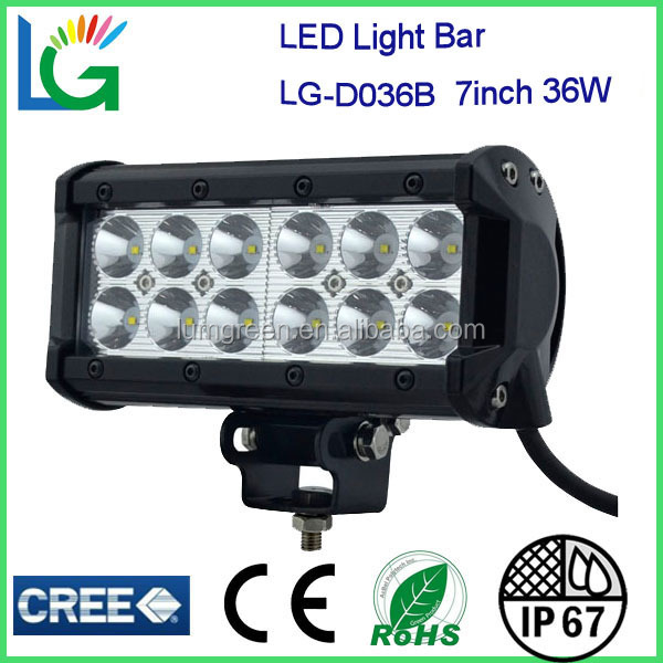 "Flood/Spot Beam 7"" 9-32V 3600lm IP67 36W Cree SUV ATV 4WD 4X4 Auto Trucks Vehicles Off Road Boat Led Light Bar"