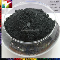 1180C bright black porcelain pottery and floor tile pigment colour