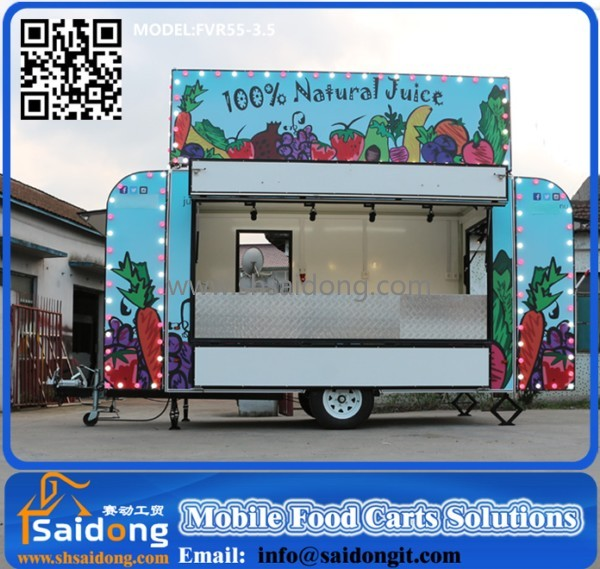 China factory mobile food cart/food trailer/mobile food van for sale