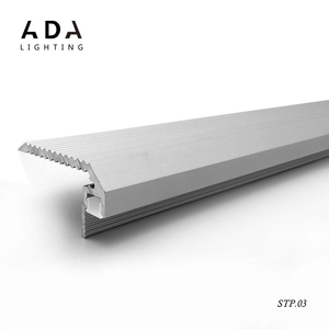 STP.03 led extruded light aluminum channel step alu profile for cinema stairs nose for led strip