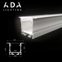 Energy Saving Led Aluminum Profile Recessed trip Light Channel With Full Accessories