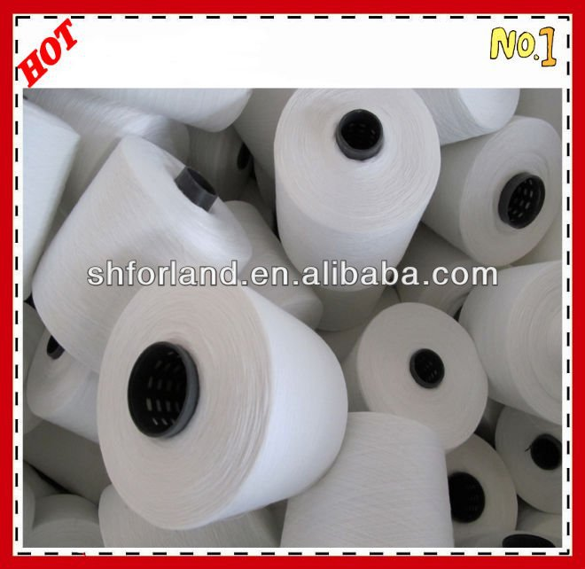 100% polyester spun yarn 30/2 polyester monofilament for knitting
