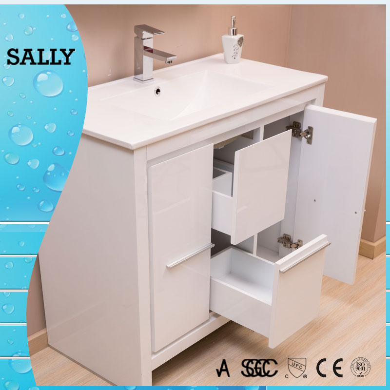 S8119wh 2 5 Raws Pu Paint Wood 45 Inch Bathroom Vanity Buy 45 Inch Bathroom Vanity Wood 45