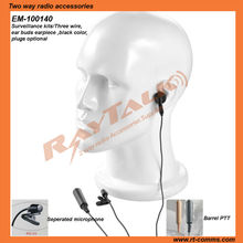 Two way radios transceiver Police earpiece covert kits headset&earpiece for CP040