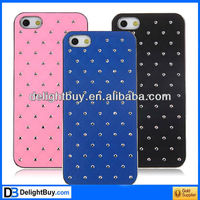 Cool Imitation Diamonds Electroplating Edge Plastic Hard Case for iPhone 5