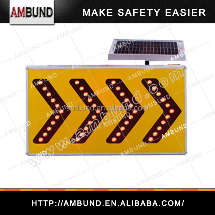Solar printable LED Traffic lights road sign