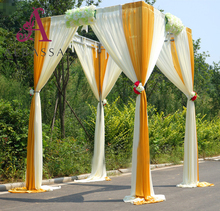 wedding stage event decoration adjustable pipe and drape square chuppah