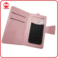 2013 New Universal Smart Phone Wallet Style Leather Case With Sucker&Card Slots