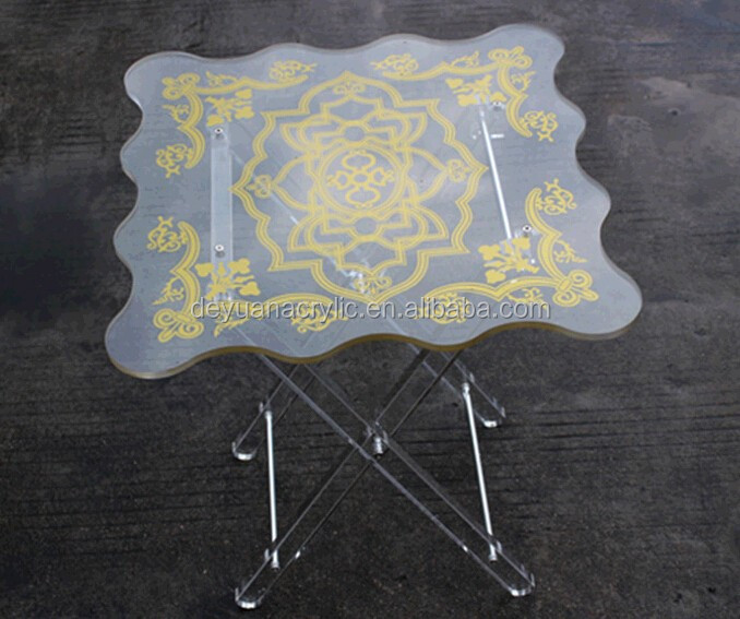 Acrylic Folding Minin Plexiglass Side Table