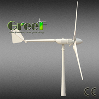 African used mini 300w 12v low noise horizontal axis wind generator , easy installation