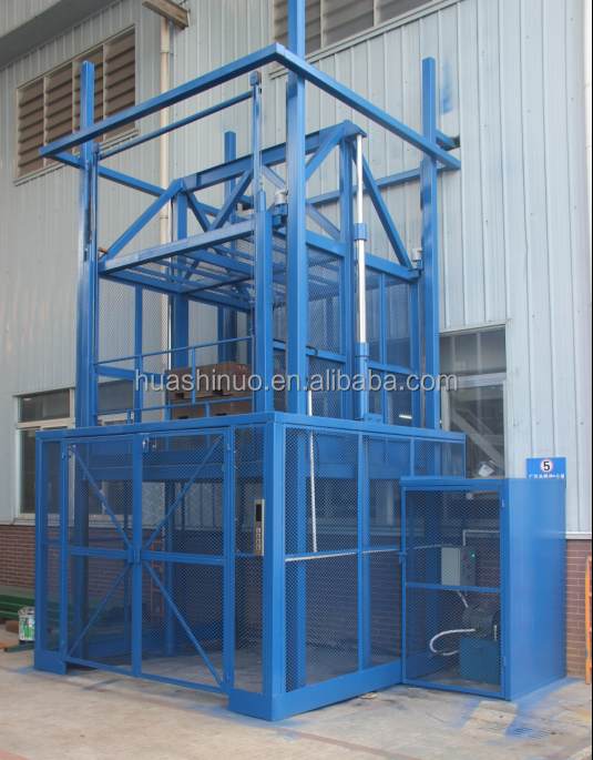 OEM service available 1 year warranty vertical cargo lifts guid rail lift platform