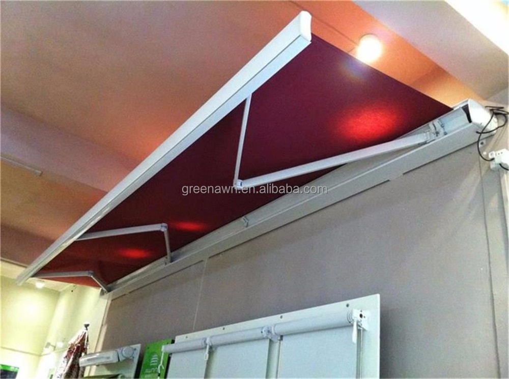 Electric car side awning restaurant awning waterproof retractable full cassette awning