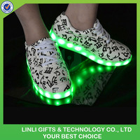 USB Rechargeable Colorful Flashing LED Light Sneaker Shoes
