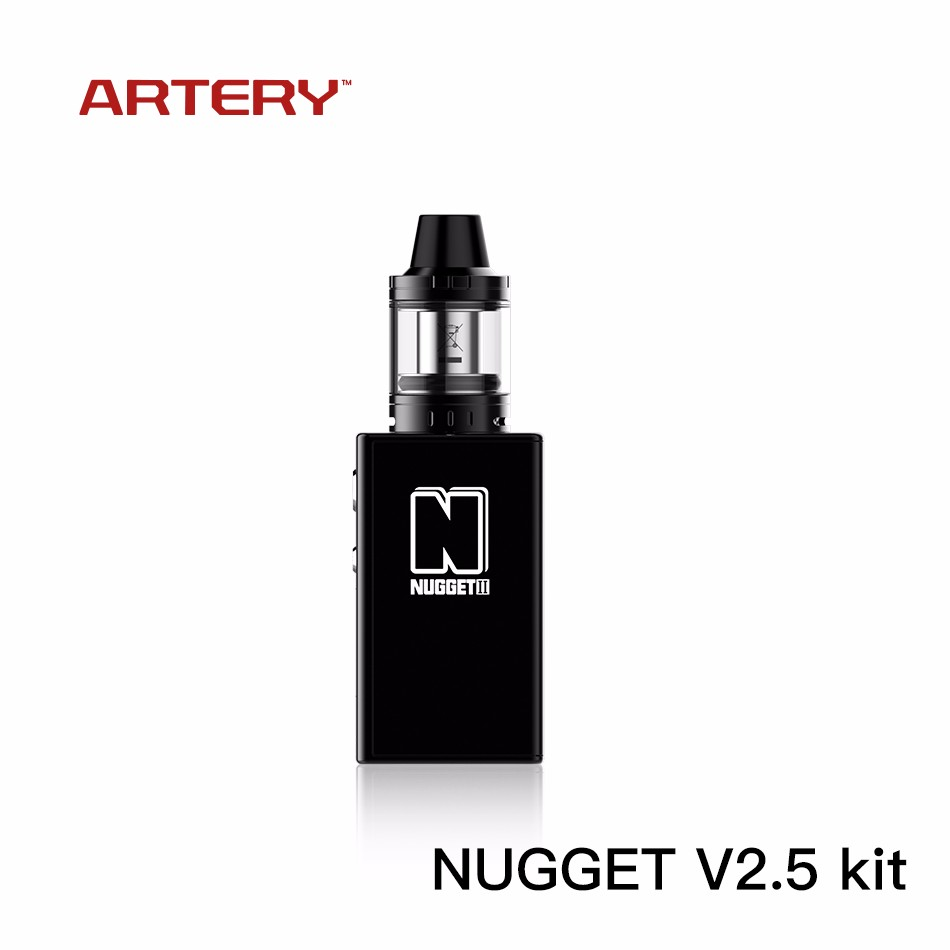 Authentic Artery Brand Newest Vapor Gold Rush Kit Nugget V2.5 Ecig Fast Shipping with mate tank