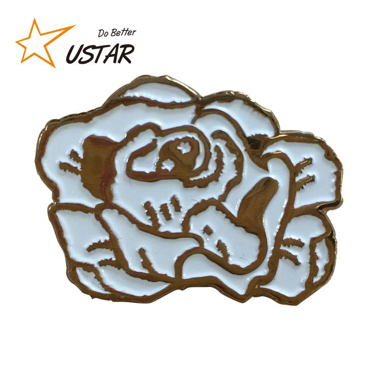 Venda Hot top quality melhor preço esmalte magnético pin flor de lapela, fundição de ouro souvenir alfinete de lapela