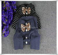 Polka dot blue and black dog shirt,pet dog clothes,pet accessory