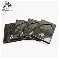 3k twill and plain high qualityCarbon Fiber Business leisure Card Credit Card Slim name card Clip