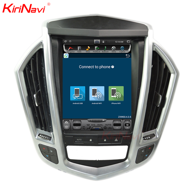 "KiriNavi Vertical Screen Tesla Style android 6.0 10.4"" car stereo auto radio gps car dvd for Cadillac SRS navigation system"