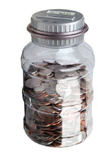 Digital Coin Bank Savings Jar - Automin Counter Totals all U.S. Coins including Dollars and Half Dollars-piggy bankatic