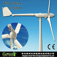 HOT !GRP 2kw wnd turbine for home use off grid system or on-grid , easy installtion, low noise