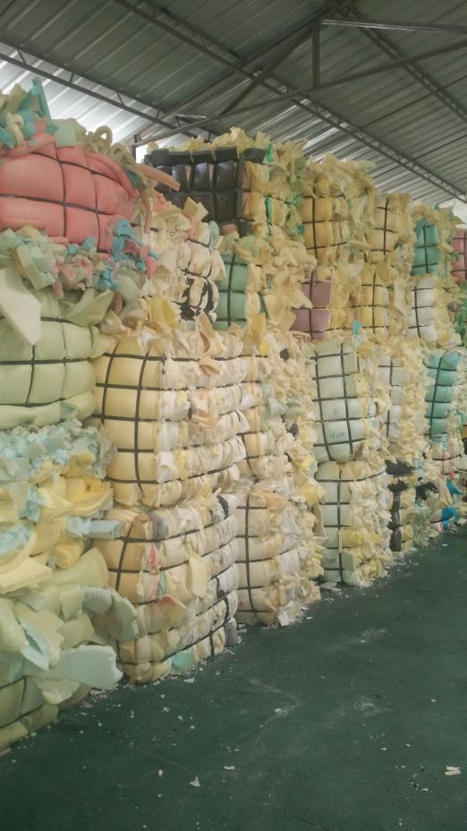 100% dry and clean scrap sponge foam in bales