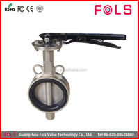 wholesale lever operated stainless steel valve butterfly