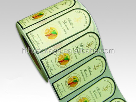 High quality adhesive label sticker kraft paper blank label sticker