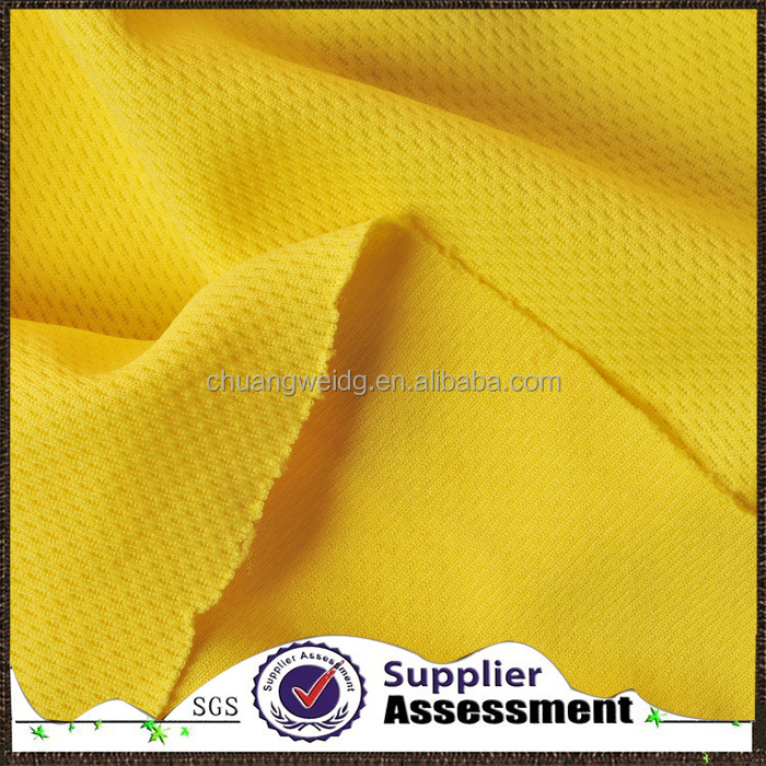 polyester bright color bird eyes mesh wicking fabric/eyelet fabric for sportswear