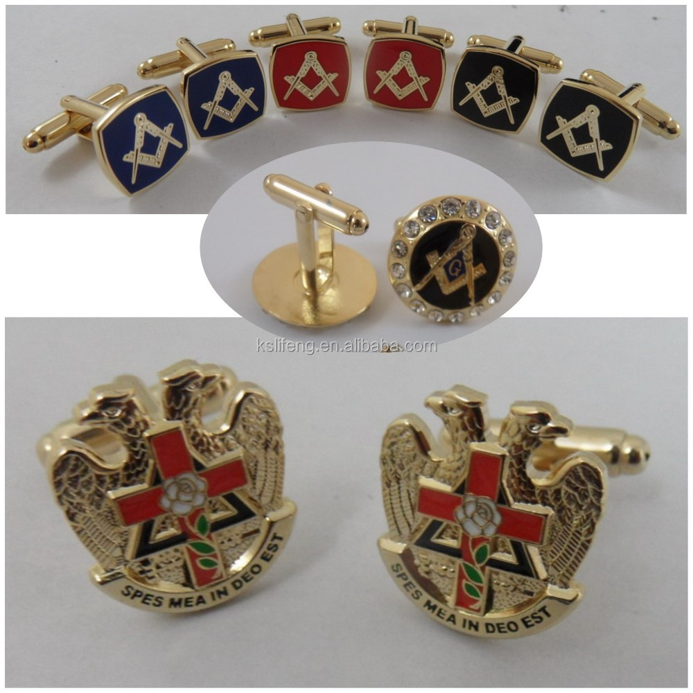 Custom Made Club Logo Metal Cufflinks Cufflink Manufacturer