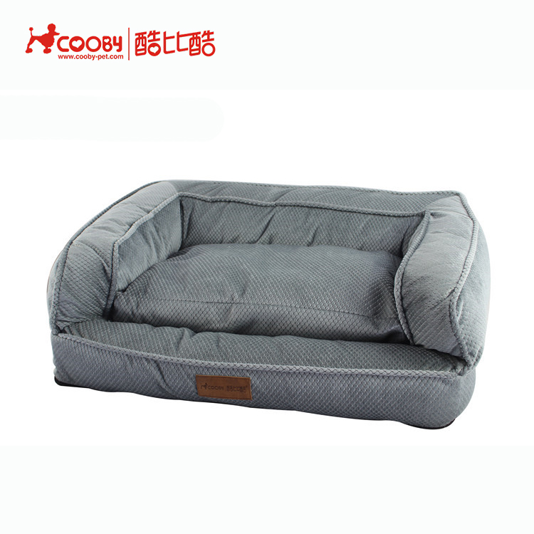 High quality wholesale dog pattern soft private label dog bed