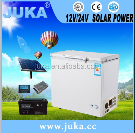 DC Solar Freezer Solar refrigerator solar chest freezer DC 12V/24V auto recognition