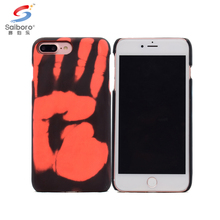 Thermal heat sensitive color changing cell phone case for iphone 8 plus