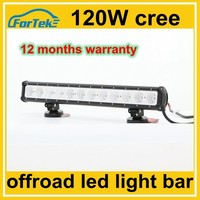 cars auto parts 120w cree single row offroad led light bar for night driving