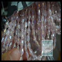 Water Drop Crystal Beads Crystal Glass Rondelle Biacone Loose Beads In Bulk