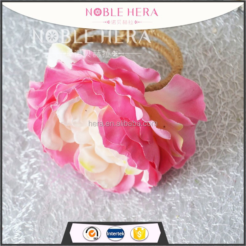 Fabric Camellia flower custom women bracelet