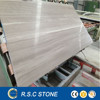 Polished white grey wooden marble natural stone for wall decoration